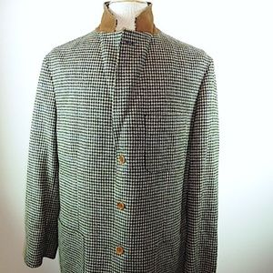 MCKENZIE TRIBE BLACK HOUNDSTOOTH PLAID blazer 42
